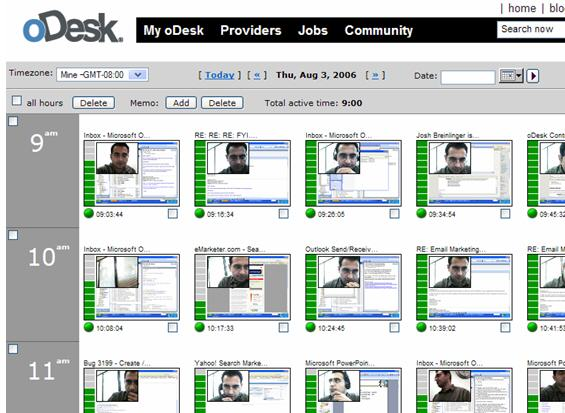 oDesk workdiary