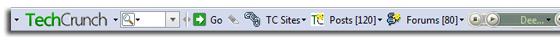 TechCrunch toolbar powered by Conduit