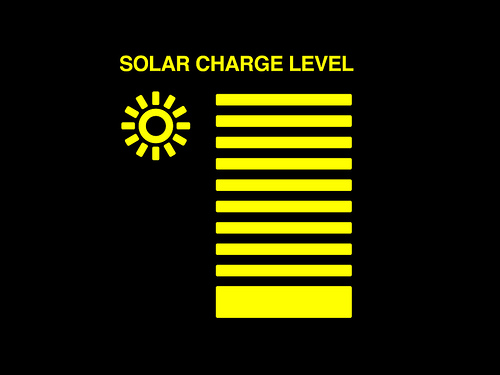 Wall-E Solar Charge Level Info Panel by Gymkata