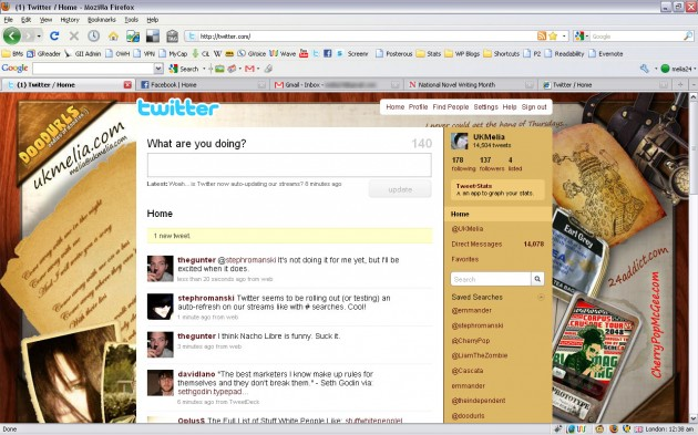 Update notification of new tweets on Twitter web page. Must be new