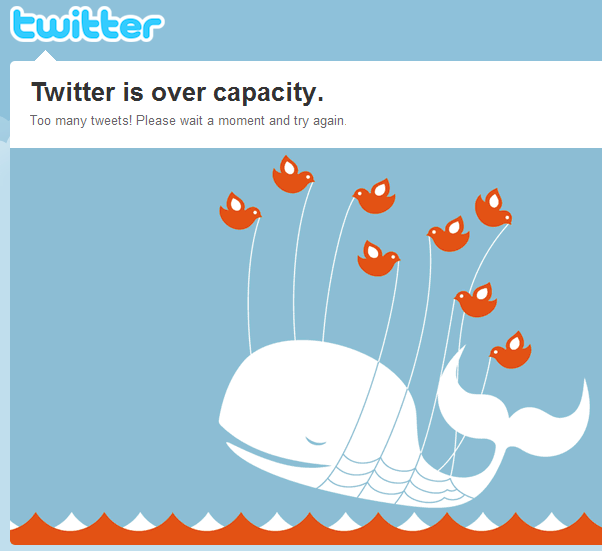 Image1 for post Hey Look, It's The Twitter Fail Whale!