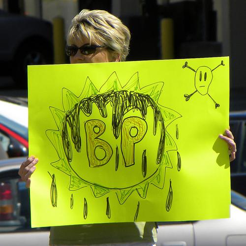 BP protester in Bloomington, MN