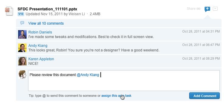 Social Workflow screenshot