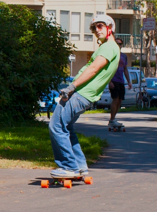 Josh Rides Boosted Board