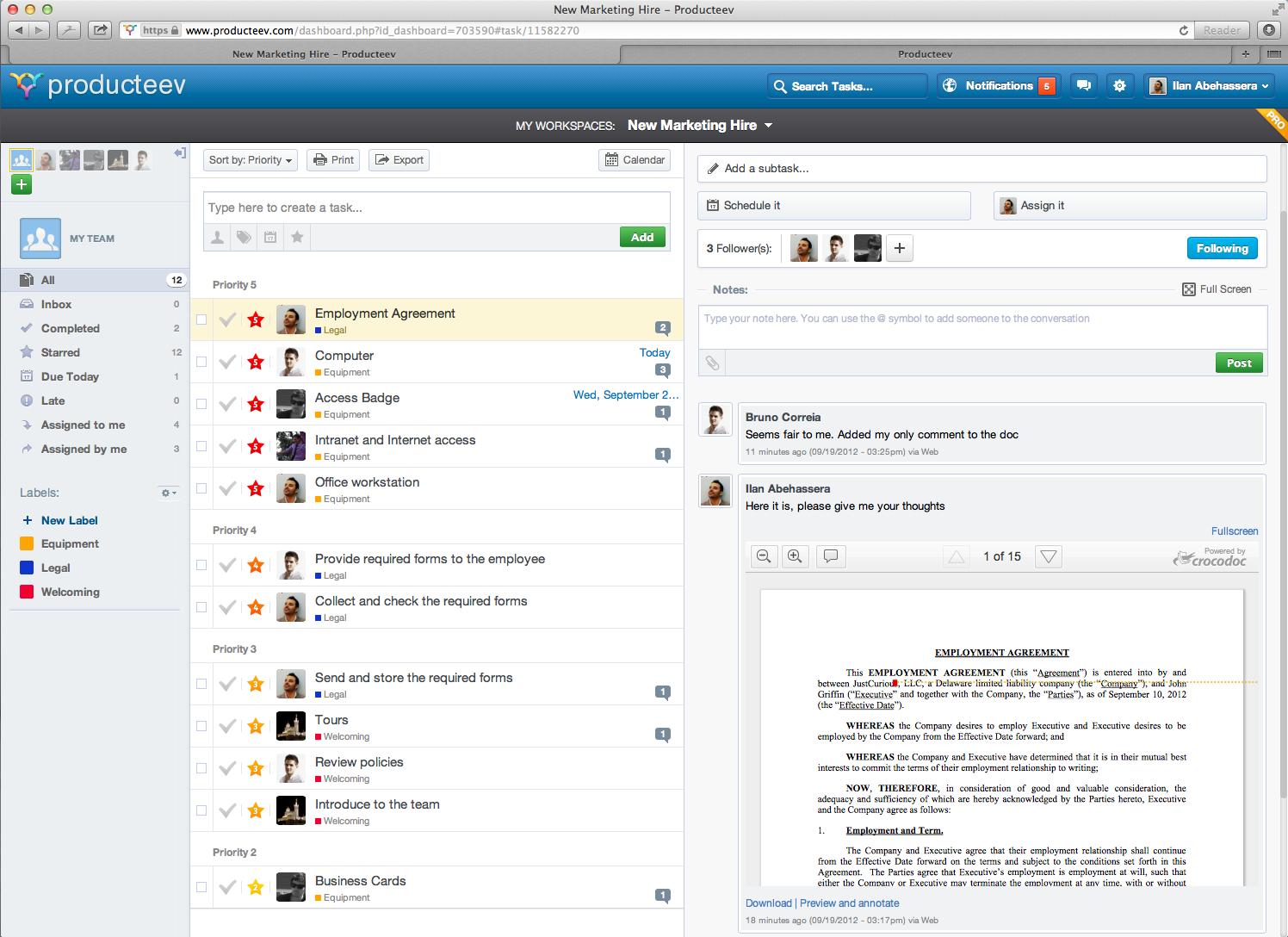 Producteev Crocodoc integration screenshot