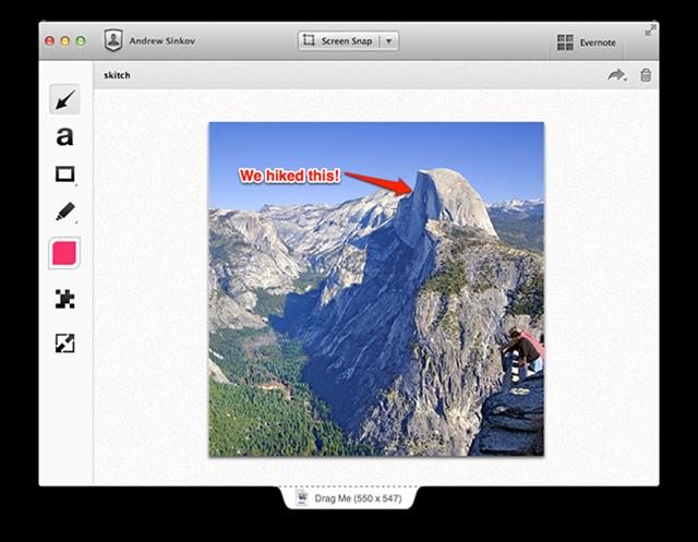 evernote, screenshot, version 2.0