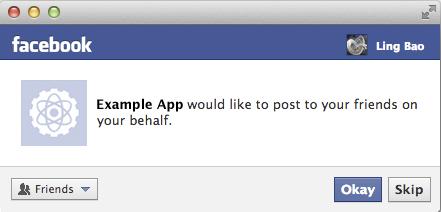 Facebook App Permission Request