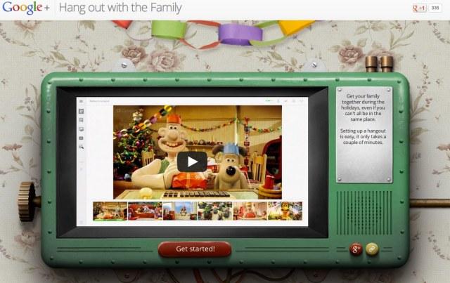 Google+ Christmas hangouts