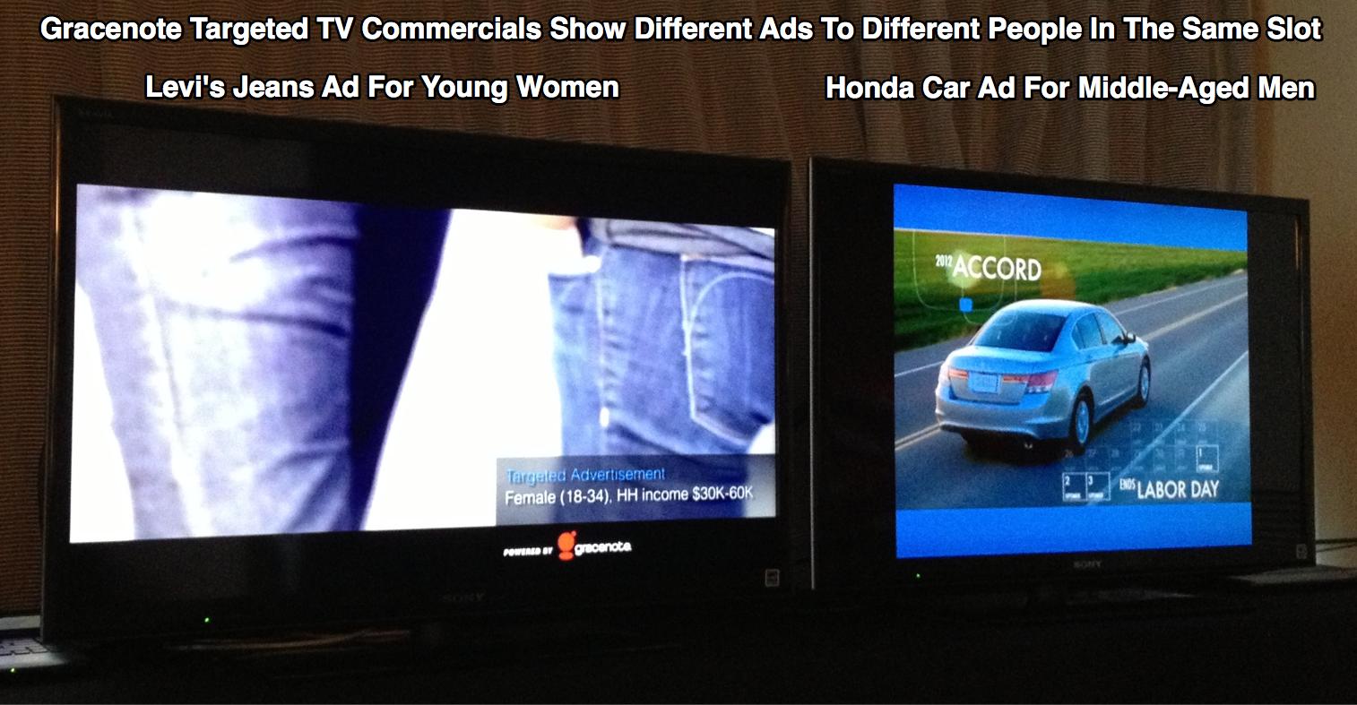 Gracenote Targeted Advertisements Levis Honda