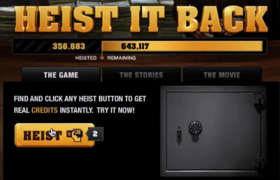 Heist Game Rewards