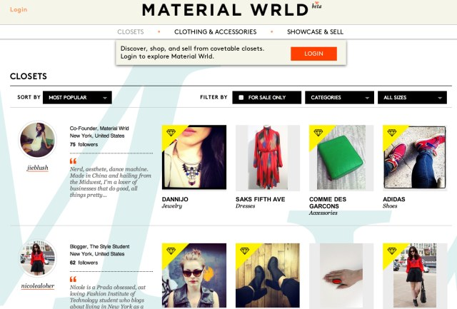Material Wrld - Closet Collections