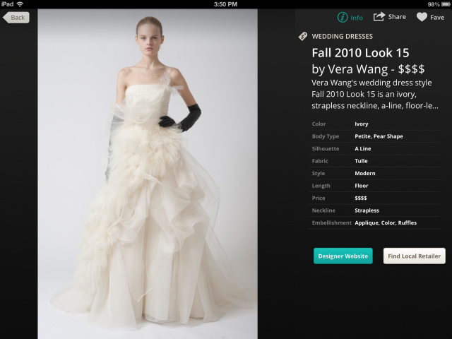 OneWed ipad dress