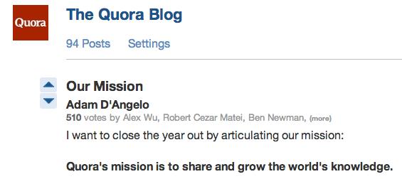 Quora Blog Header