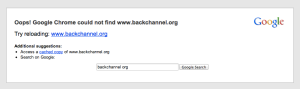 backchannel.org not found