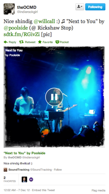 Soundtracking Music Tweet Play Image