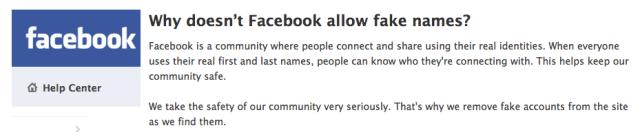 Facebook Real Name Help Center
