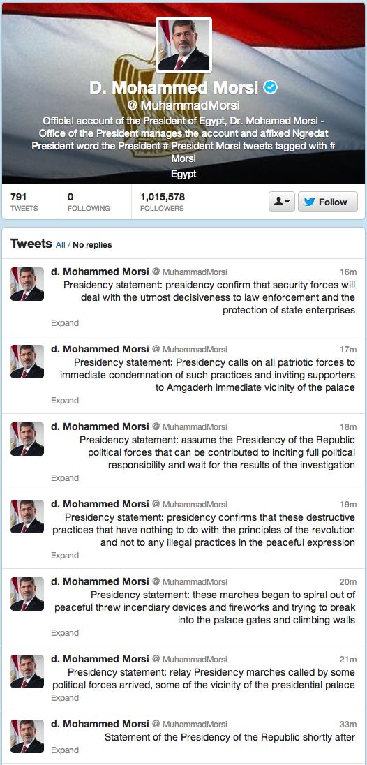 د.محمد مرسي (MuhammadMorsi) on Twitter
