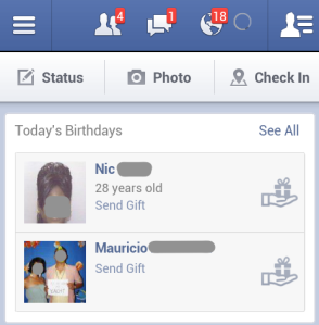 Facebook Gifts Mobile Push
