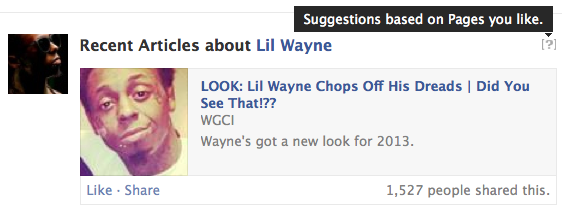Facebook Recent Articles About Lil Wayne
