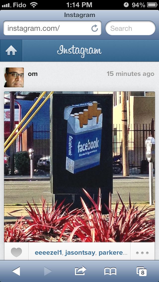 New Instagram web feed viewed in mobile Safari.