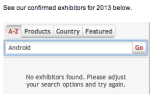no android exhibitor