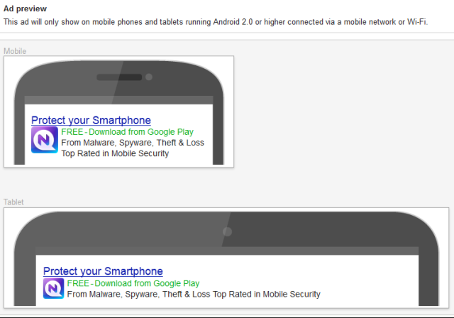 AdWords App Ad Preview