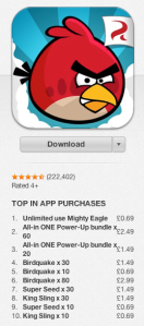 angry birds new pricing