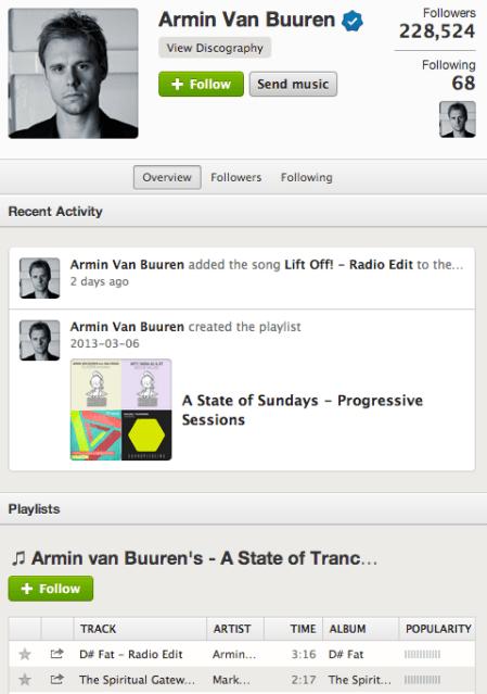 Armin Van Buuren DJ Social Profile