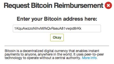Enter Bitcion Address