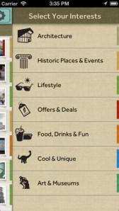 google field trip ios interests