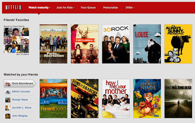 Netflix Facebook US Integration Screenshot