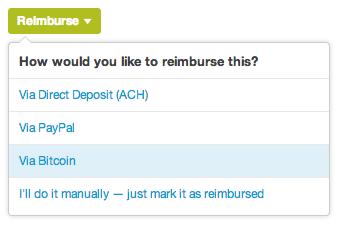 Reimburse Via Bitcoin