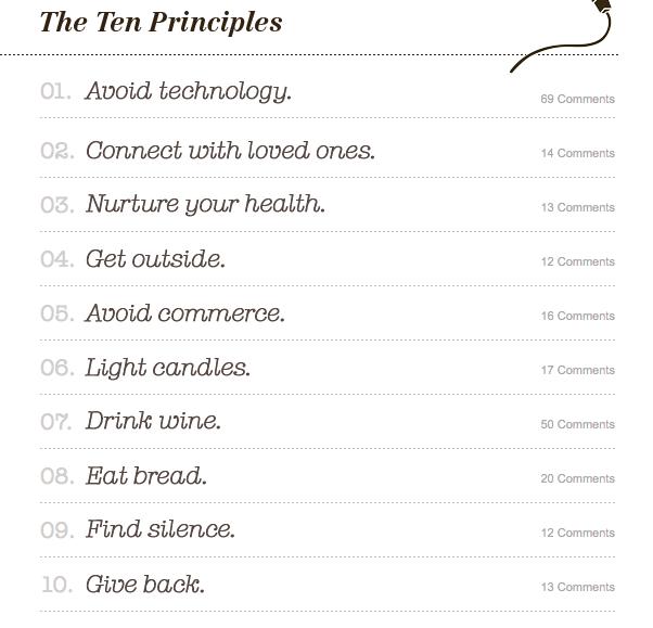 unplugging principles