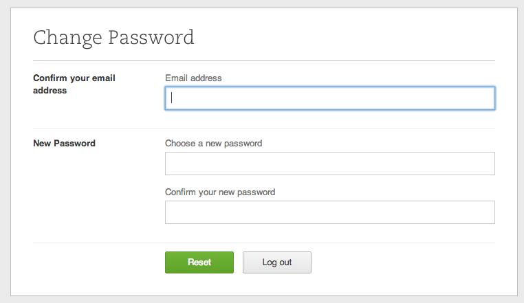 evernote password change