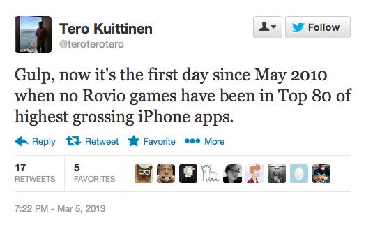 rovio top apps drop
