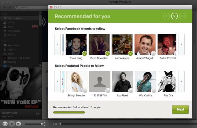 Spotify Social Recommendations