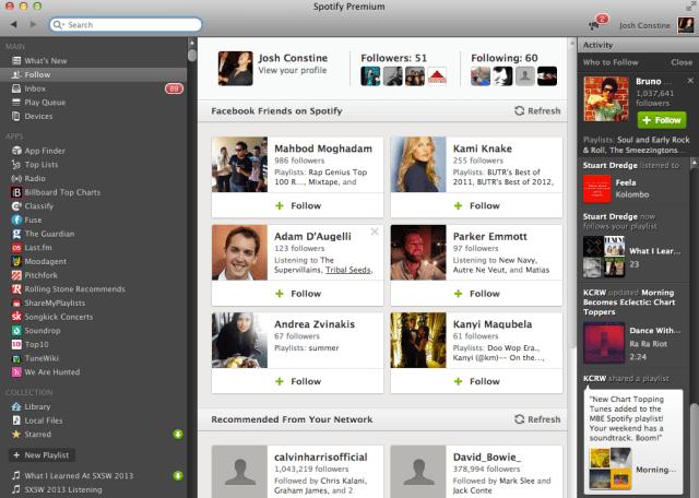 Spotify Social Screenshot