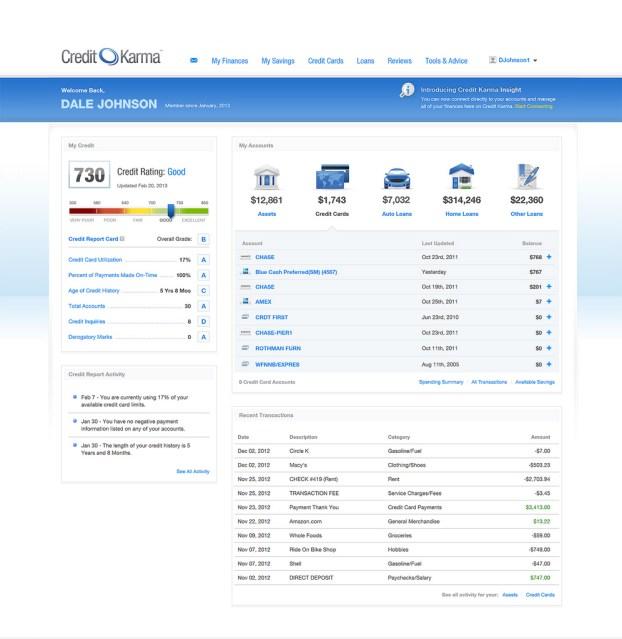 credit-karma-dashboard