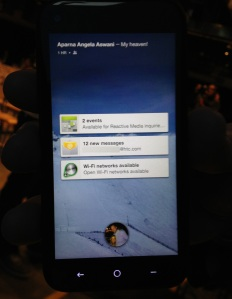 Facebook Home On Modified Android HTC