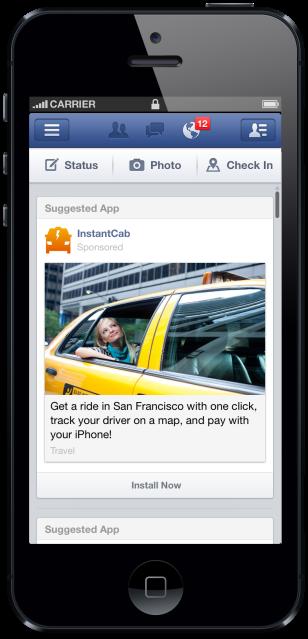 Facebook New App Install Ad