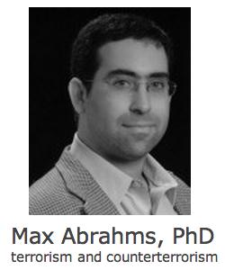 Max Abrahms, Terrorism Expert
