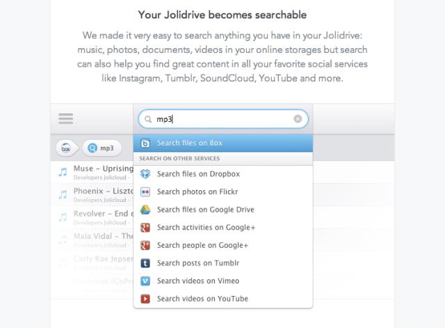 jolidrive search