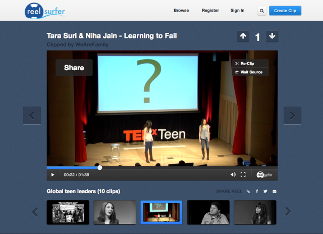 Tedxteen play page