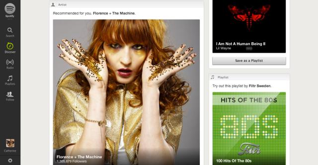 Spotify Discover screenshot