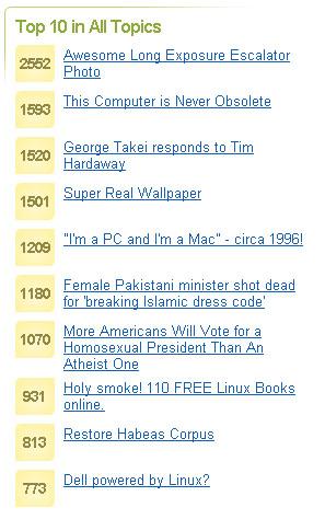 digg.top10.screenshot