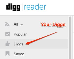 Diggs in reader