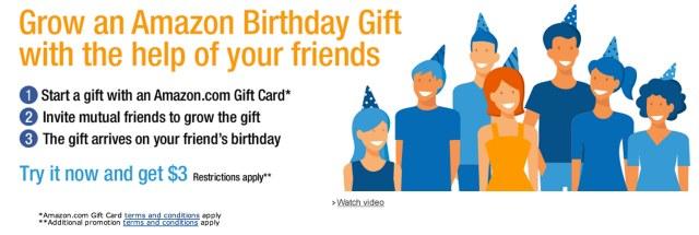 Start or Join an Amazon Birthday Gift