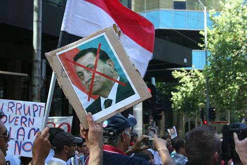 Egypt Uprising Solidarity protest Melbourne