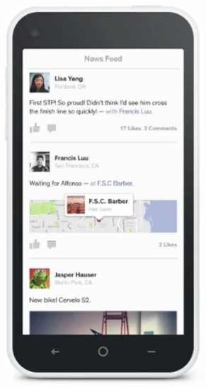 Facebook Home Cover Feed Prototype