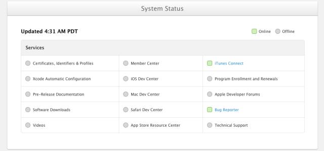 apple services status